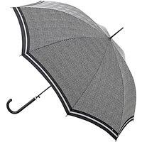 Fulton Riva Prince Of Wales Check Walking Umbrella, Black