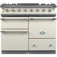 Lacanche Macon LG1053GE Dual Fuel Range Cooker, Ivory / Chrome Trim