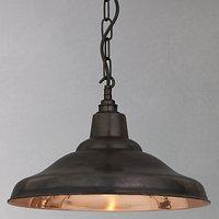 Davey Lighting School Ceiling Light, Copper