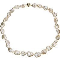 A B Davis Cultured River Baroque Pearl Necklace, White