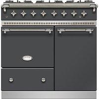 Lacanche Beaune LG962GCTDANTCHA Dual Fuel Range Cooker, Anthracite / Chrome Trim