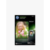 HP CR757A Everyday Photo Printer Paper, White, 10 x 15cm, 100 Sheets