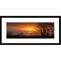 David Purdie - Red Sunrise Framed Print, 49 x 104cm