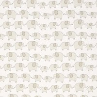 John Lewis Eli Elephant Fabric, Grey