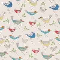 little home at John Lewis Stick Birds Furnishing Fabric, Multi