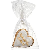 Image On Food Personalised Wedding Heart Gingerbread, Gold, Pack Of 24