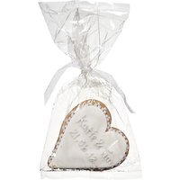 Image On Food Personalised Wedding Heart Gingerbread, Silver, Pack Of 24