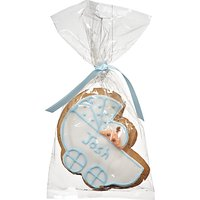 Image on Food Personalised Baby Pram Gingerbread, Blue, Pack of 24