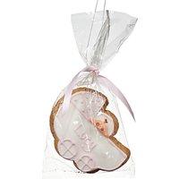 Image on Food Personalised Baby Pram Gingerbread, Pink, Pack of 24