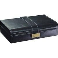 Dulwich Designs Heritage Cufflink Box, Leather, Black