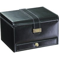 dulwich designs heritage 3 piece watch box, black