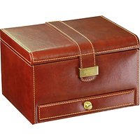 dulwich designs heritage 3 piece watch box, brown