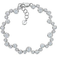 Jools by Jenny Brown Cubic Zirconia Circles Bracelet, Silver