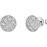 Jools by Jenny Brown Pave Set Cubic Zirconia Stud Earrings, Silver