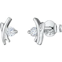 Jools by Jenny Brown Cubic Zirconia Kiss Stud Earrings, Silver
