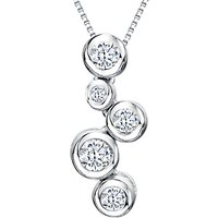 shop for Jools by Jenny Brown Cubic Zirconia 5 Circle Pendant Necklace, Silver at Shopo