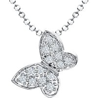 shop for Jools by Jenny Brown Cubic Zirconia Butterfly Pendant Necklace, Silver at Shopo