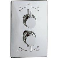 Abode Harmonie Concealed Shower Mixer Panel, H57mm