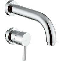 Abode Harmonie 2 Piece Wall Mounted Basin Filler Bathroom Tap