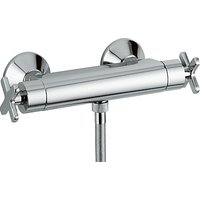 Abode Euphoria Low Pressure Thermostatic Bar Shower, H112mm