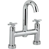 Abode Serenitie Deck Mounted Bathroom Filler Tap with Swan Spout