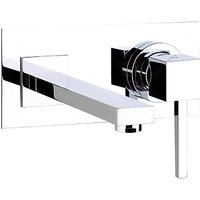 Abode Zeal Wall Mounted Single Lever Basin/Bath Mixer Bathroom Tap