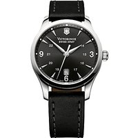 Victorinox 241474 Mens Alliance Leather Strap Watch, Black