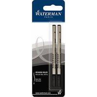 Parker Waterman Rollerball Pen Refills, Black, Pack of 2