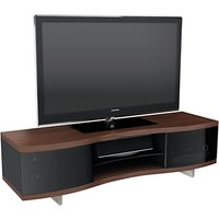 BDI Ola 8137 TV Stand for TVs up to 75, Chocolate Stained Walnut