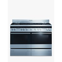 Fisher and Paykel OR120DDGWX2 Dual Fuel Range Cooker, Stainless Steel