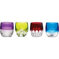 Waterford Cut Lead Crystal Mixology Tumblers, Set of 4, Coloured