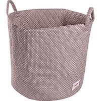 Minene Large Dots Storage Basket, Grey