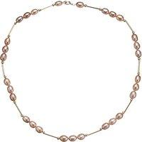 shop for A B Davis Triple Pearl Gold Bar Necklace at Shopo