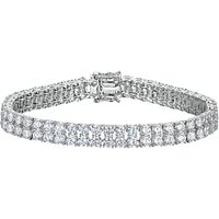 shop for Jools by Jenny Brown 2 Row Cubic Zirconia Tennis Bracelet at Shopo