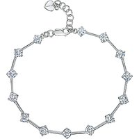 shop for Jools by Jenny Brown Silver Cubic Zirconia Rounds Bracelet at Shopo