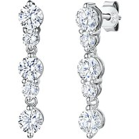shop for Jools by Jenny Brown 5 Rhodium and Cubic Zirconia Drop Earrings, Silver at Shopo