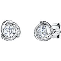 shop for Jools by Jenny Brown Infinity Round Cubic Zirconia Stud Earrings, Silver at Shopo