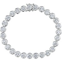shop for Jools by Jenny Brown Round Rubover Cubic Zirconia Tennis Bracelet, Silver at Shopo