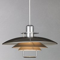 Belid Felix Rise and Fall Ceiling Light, Satin Nickel