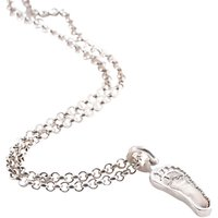 Fingerprint Jewellery Single Footprint Charm Necklace, Silver