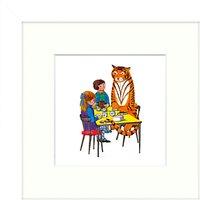 Judith Kerr - Tea With Tiger Framed Print, 23 x 23cm