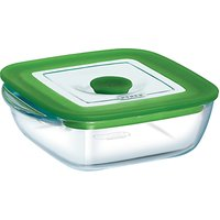 Pyrex Glass Square Storage Oven Dish with Lid, 1L