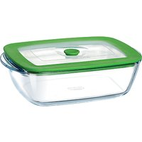Pyrex Glass Rectangular Storage Oven Dish with Lid, 2.6L