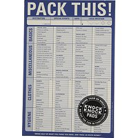 Knock Knock Pack This Notepad, Blue