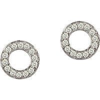 shop for London Road Meridian 9ct Gold Diamond Circle Stud Earrings at Shopo
