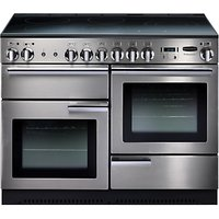 Rangemaster Professional + 110 Electric Range Cooker - Stainless Steel