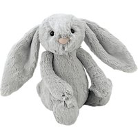 Jellycat Bashful Bunny Soft Toy, Small, Silver