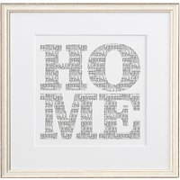 Letterfest Personalised Typographic Home Print