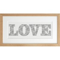 Letterfest Personalised Love Art Print, 24 x 45cm