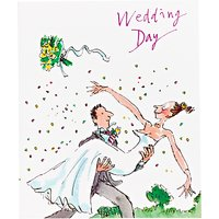Woodmansterne Bride Throwing Bouquet Wedding Card